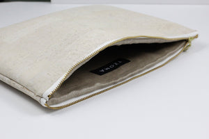 Gloria Clutch In White Cork