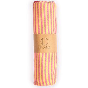 Fethiye Striped Ultra Soft Eco-Friendly - Pink + Orange