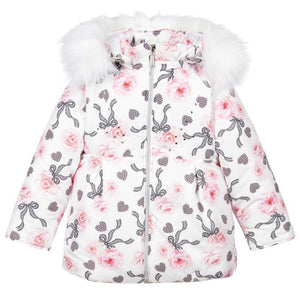 PILGUNI KIDS GIRLS FLORAL PADDED SKI JACKET 7 YEARS