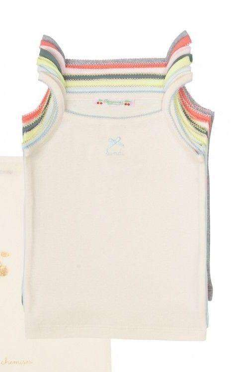 BONPOINT BABY T-SHIRT VEST TOP BUNDLE DAYS OF THE WEEK 12 MONTHS