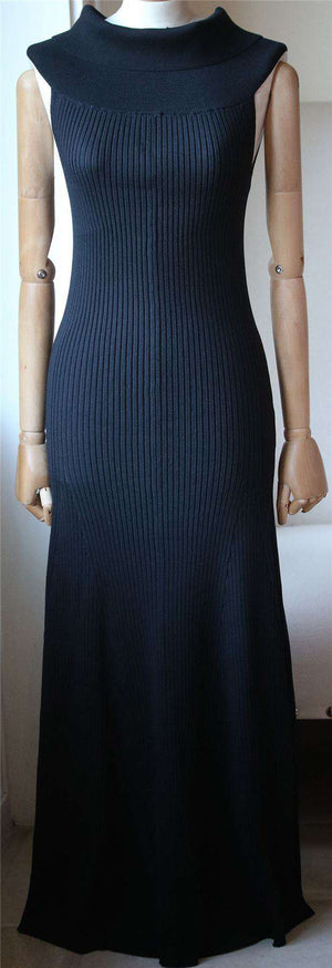 BY MALENE BIRGER ALLIANE OFF THE SHOULDER RIBBED KNIT MAXI DRESS MEDIUM