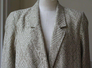 FORTE FORTE SINGLE BREASTED JACQUARD COAT UK 8