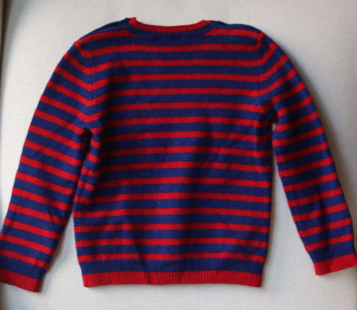 GUCCI BABY BOYS TIGER PRINT STRIPED WOOL SWEATER 24 MONTHS