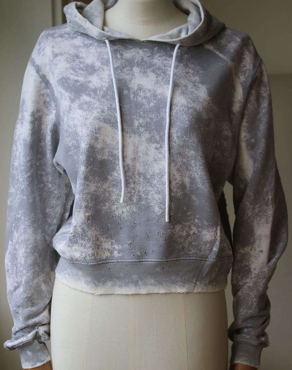 COTTON CITIZEN MILAN CROPPED PULLOVER HOODIE SMALL