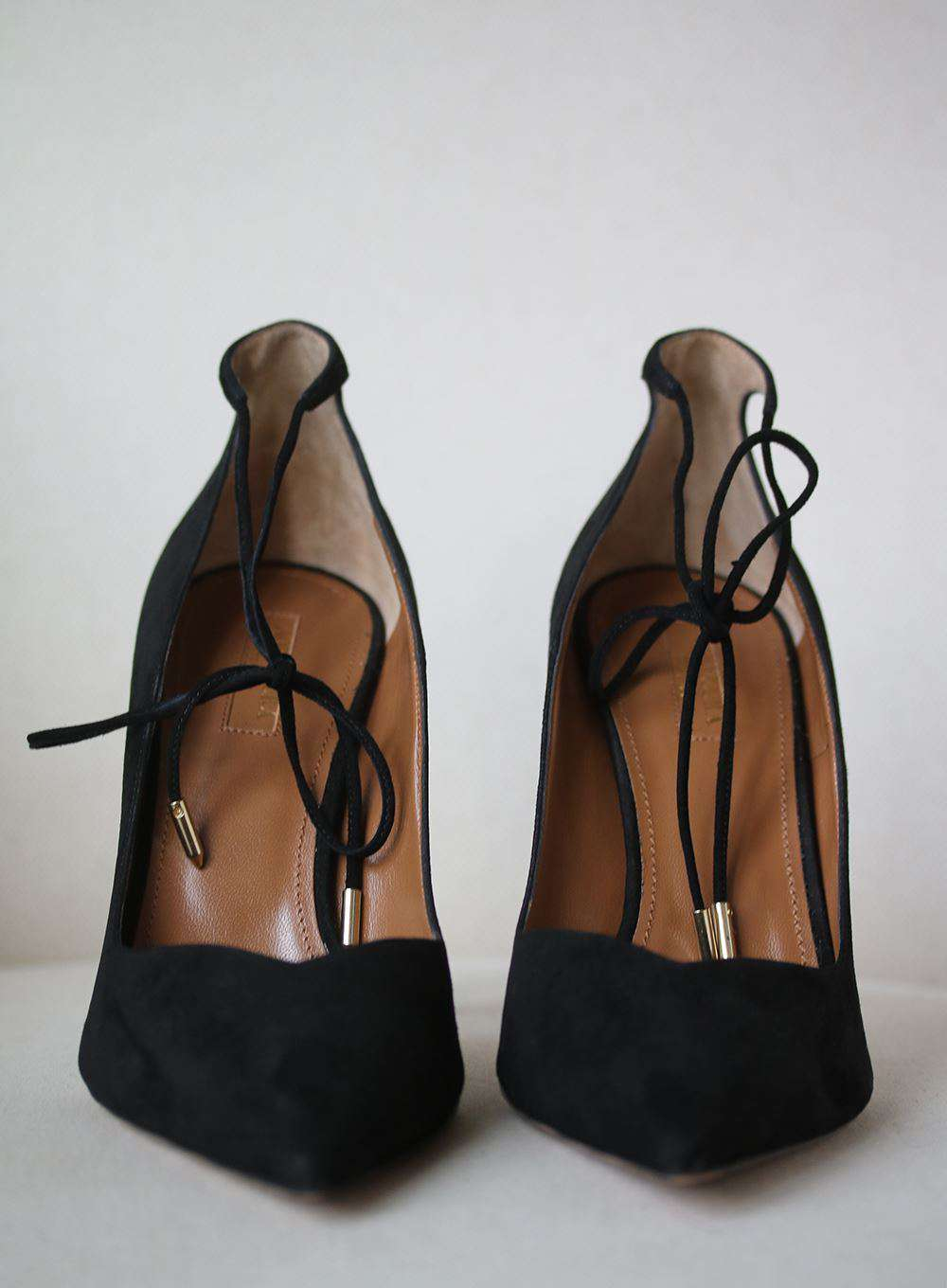AQUAZZURA ALLURE 105 SUEDE PUMPS EU 40 UK 7 US 10