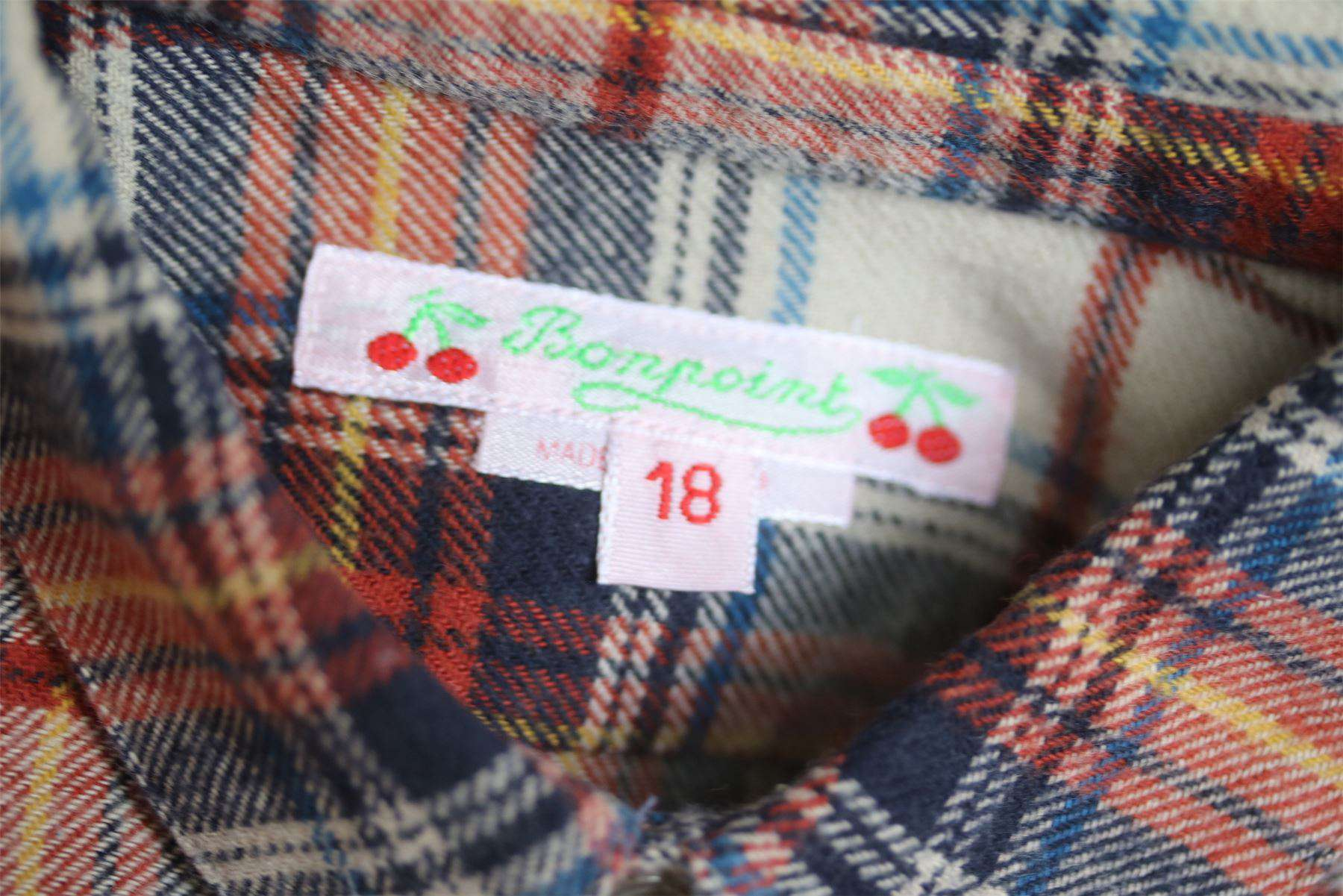 BONPOINT BABY PLAID SHIRT 18 MONTHS