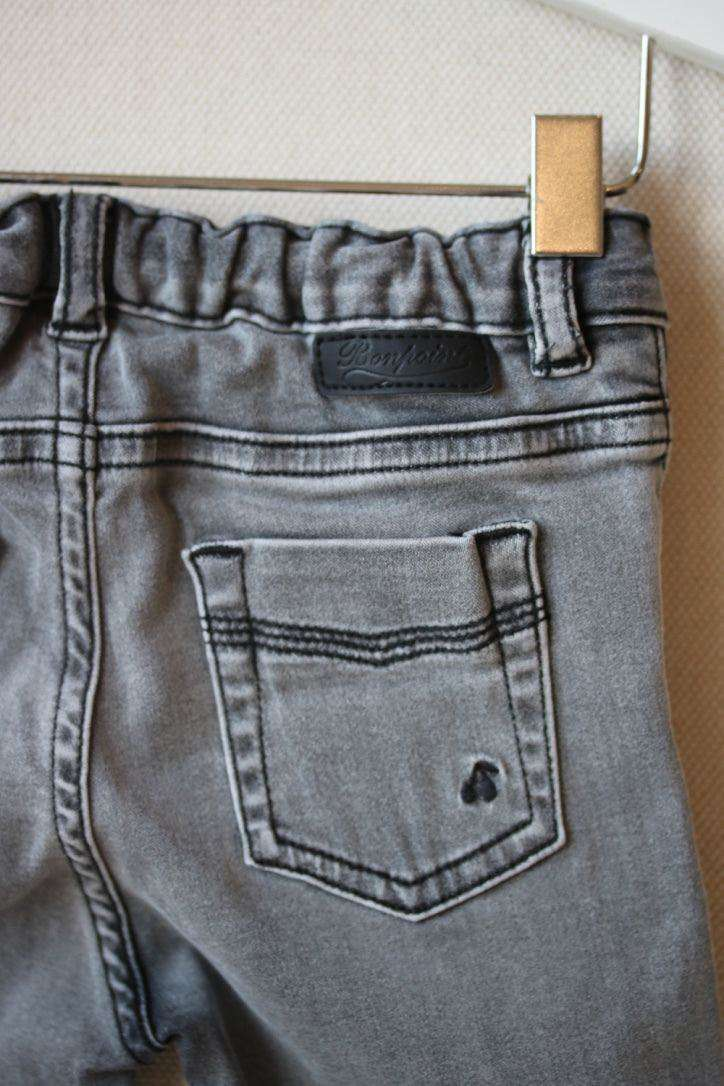 BONPOINT BABY GREY JEANS 12 MONTHS