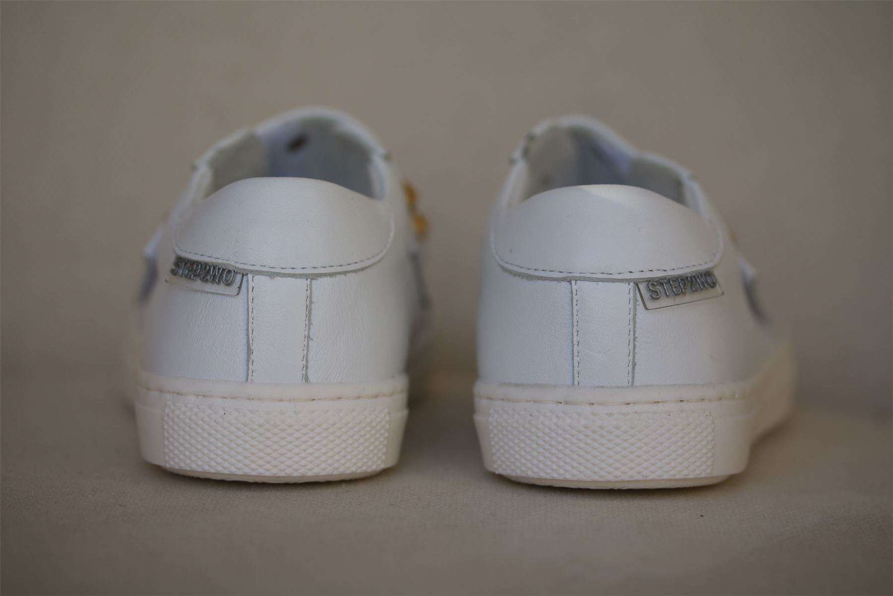 STEP2WO GIRLS WHITE LEATHER SNEAKERS EU 27 UK 9