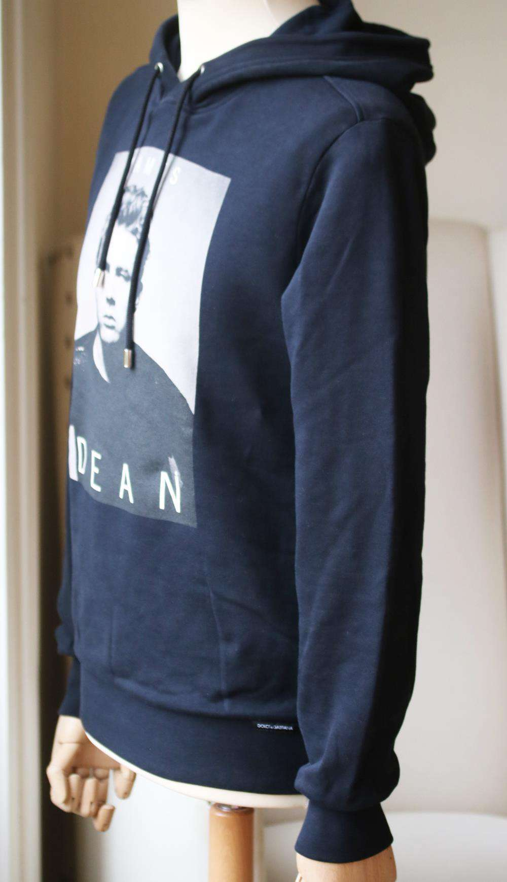 DOLCE AND GABBANA JAMES DEAN PRINTED COTTON HOODIE IT 46 UK 36