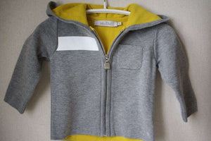 BABY DIOR GREY HOODED JUMPER 6 MONTHS