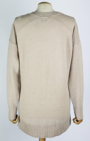 LAUREN MOSHI PRINTED CASHMERE SWEATER LARGE