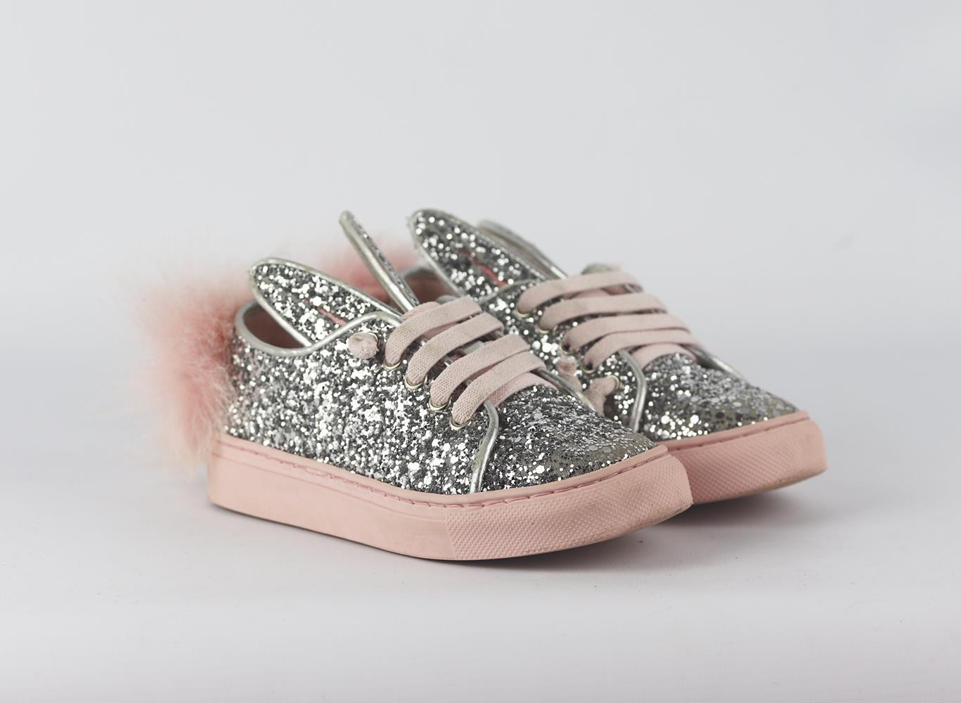 MINNIA PARIKA KIDS GIRLS BUNNY GLITTER SNEAKERS EU 26 UK 8.5