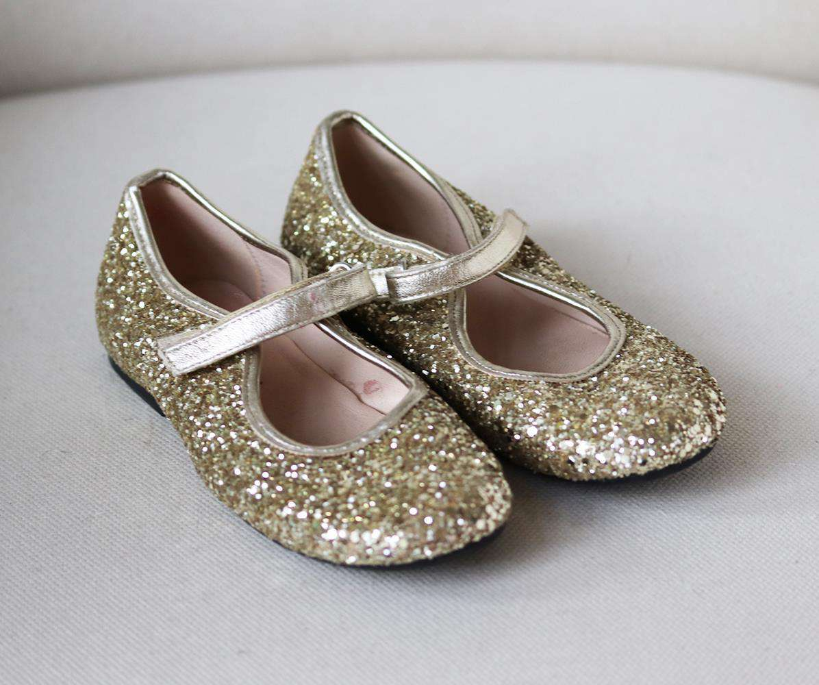 MANUELA DE JUAN KIDS GIRLS GLITTER SHOES EU 30 UK 12