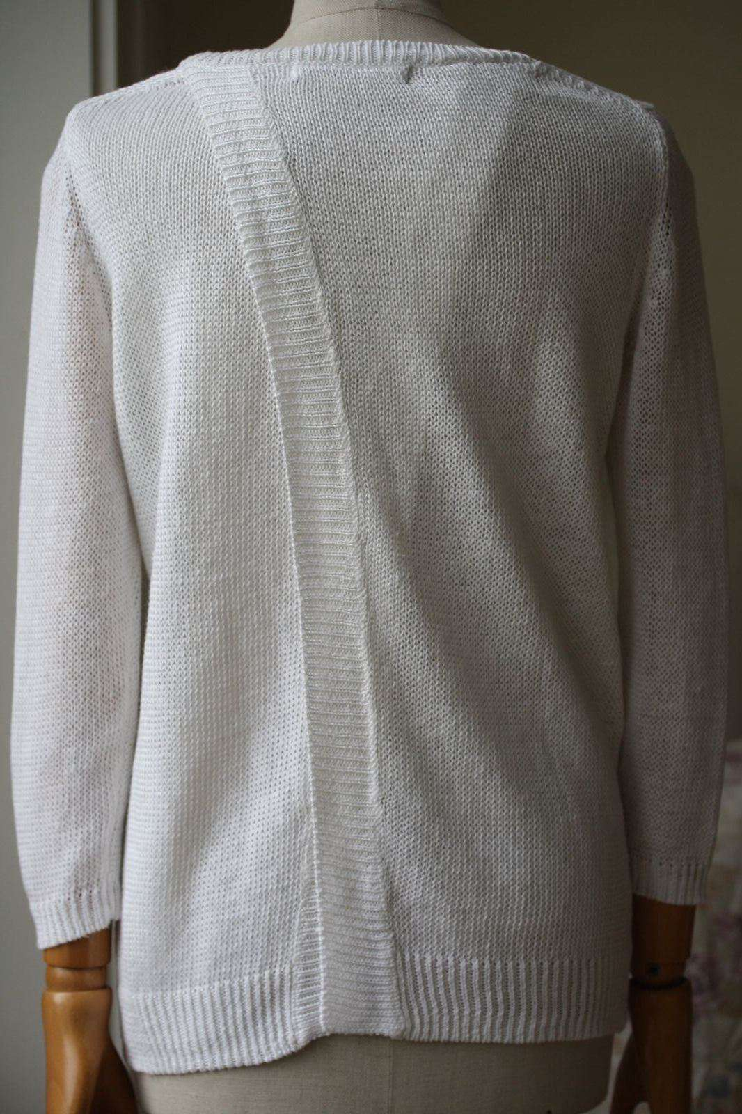 360 SWEATER DRURY CROSS BACK WHITE SWEATER SMALL