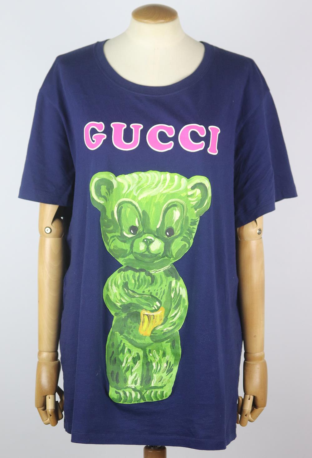 GUCCI PRINTED COTTON JERSEY T-SHIRT MEDIUM