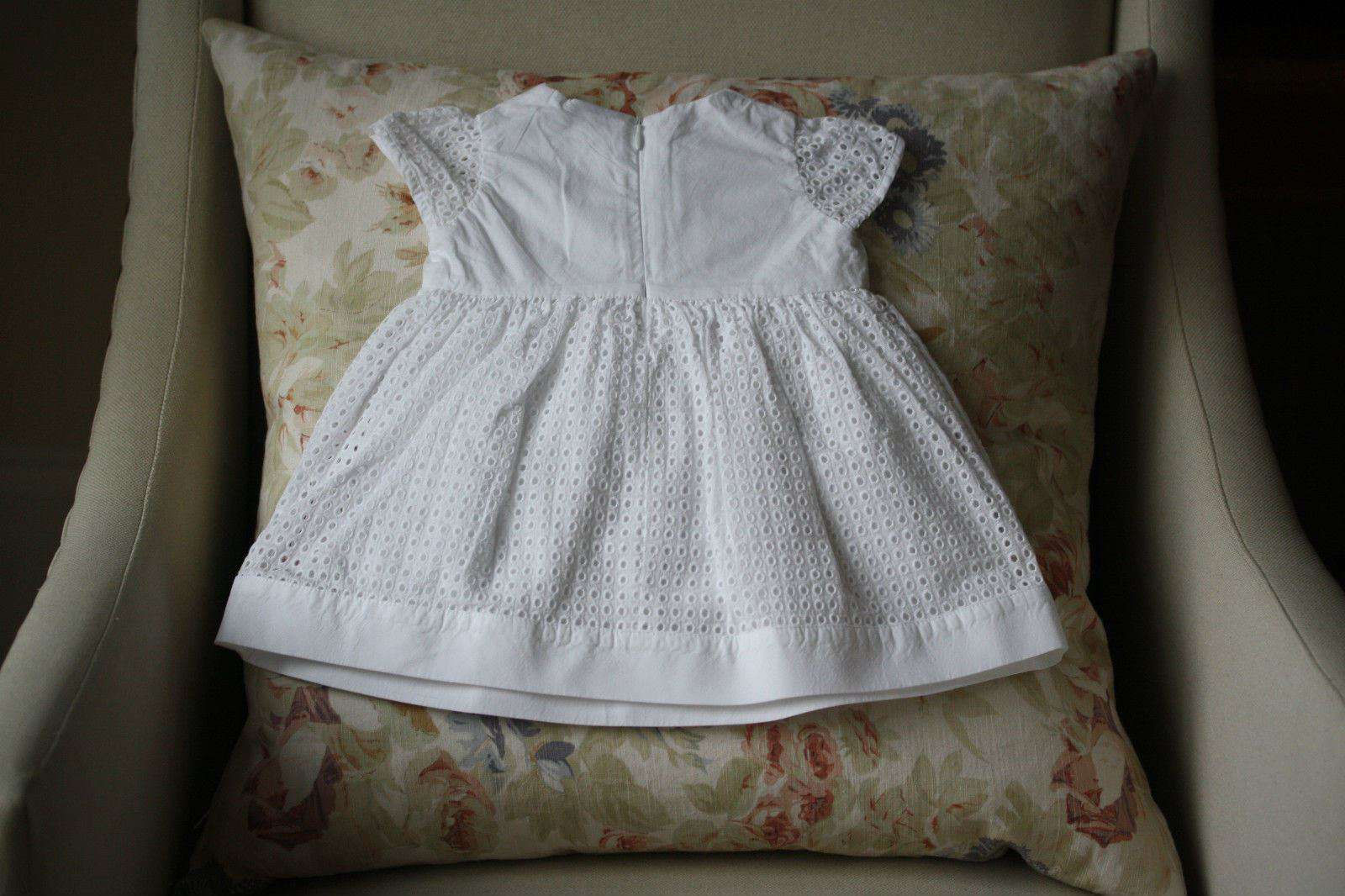 FENDI BABY WHITE CELEBRATION DRESS 3 MONTHS