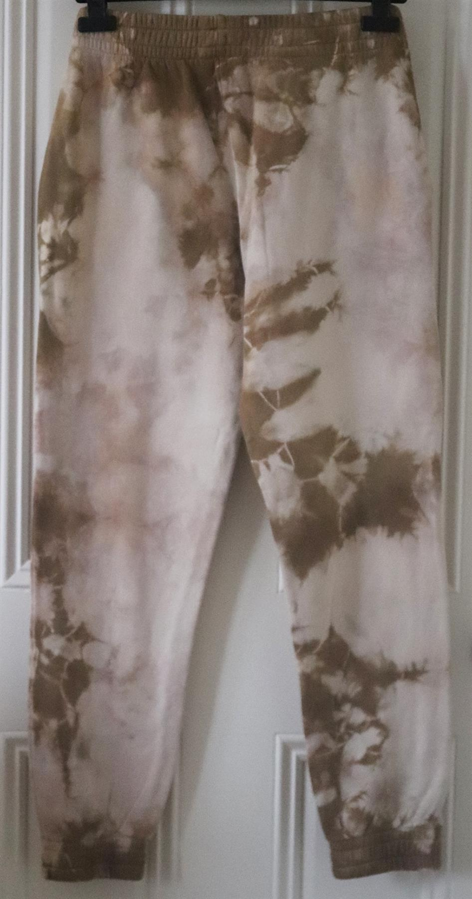 FRANKIES BIKINIS AIDEN TIE DYE COTTON JERSEY TRACK PANTS MEDIUM
