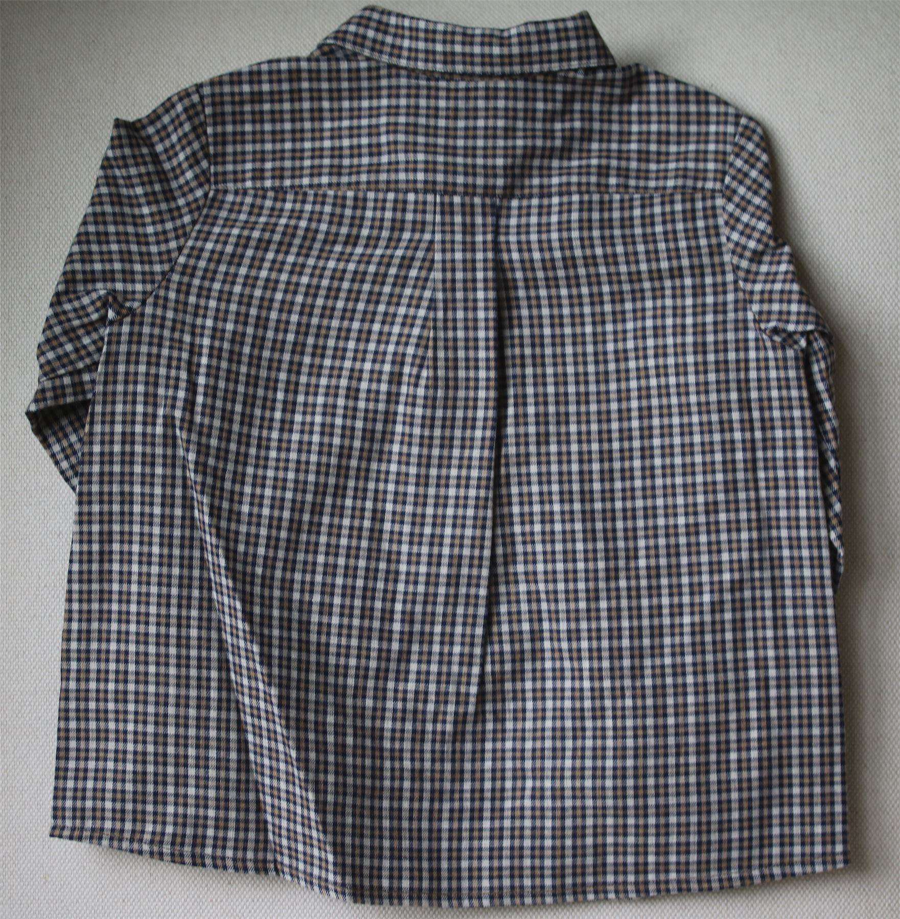 BONPOINT BABY CHECK MALO SHIRT 2 YEARS