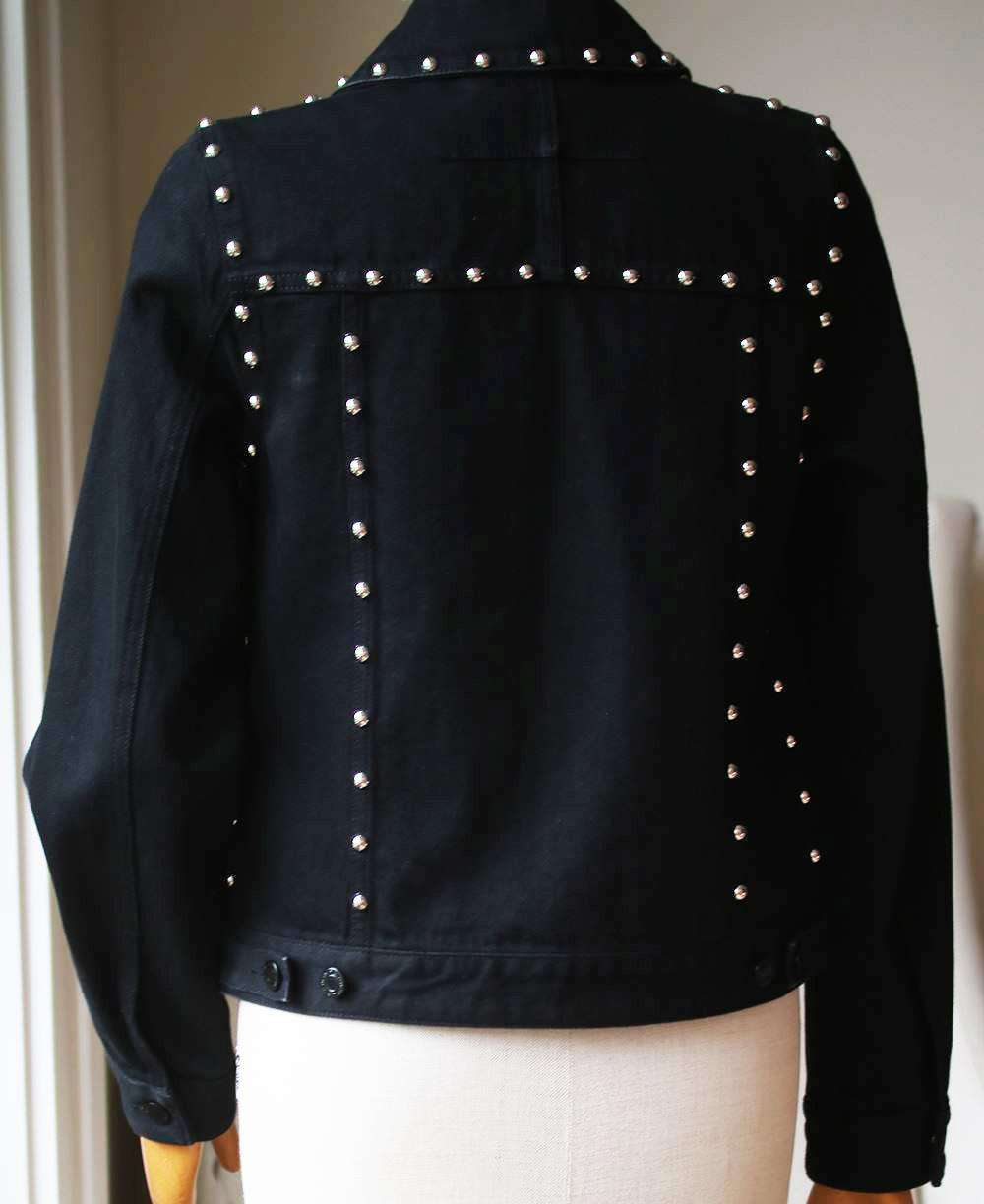 GIVENCHY STUDDED DENIM JACKET FR 36 UK 8