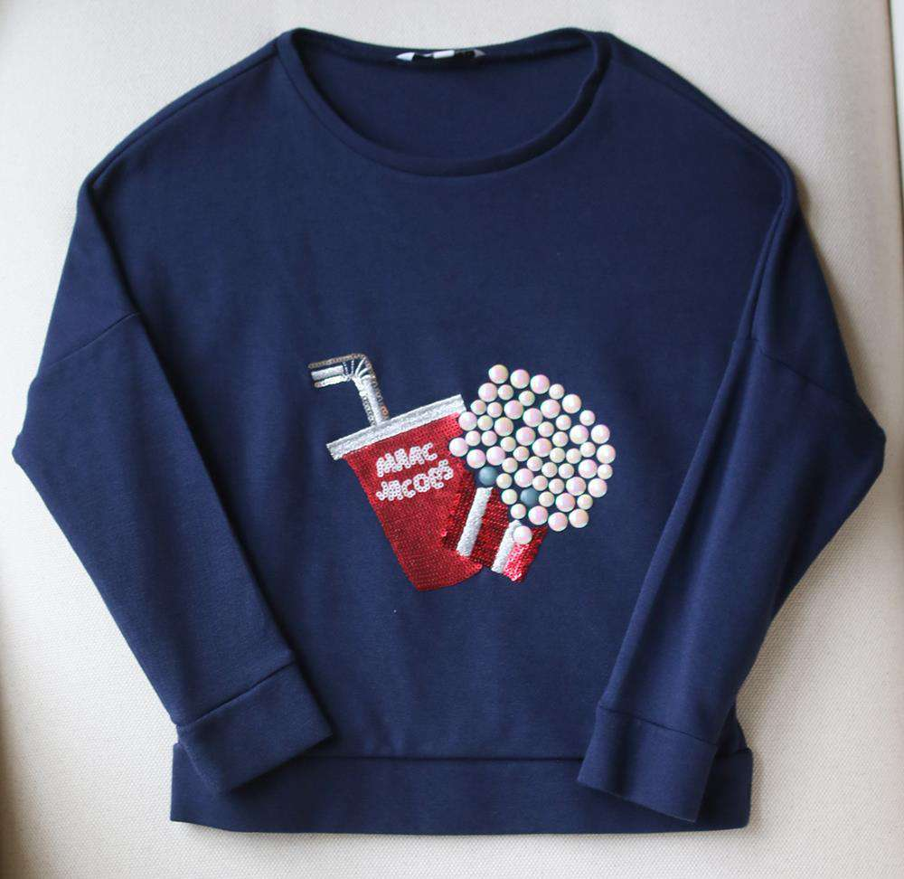 LITTLE MARC JACOBS KIDS GIRLS SEQUINNED POPCORN MILANO SWEATER 6 YEARS