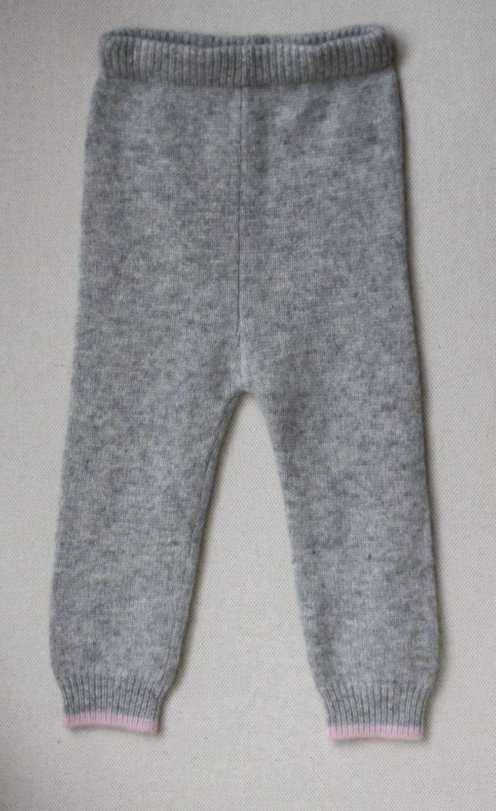 CASHMIRINO BABY GREY AND PINK TOP AND LEGGINGS OUTFIT 12 MONTHS