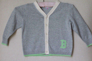 BONPOINT BABY GREY COTTON B CARDIGAN 18 MONTHS