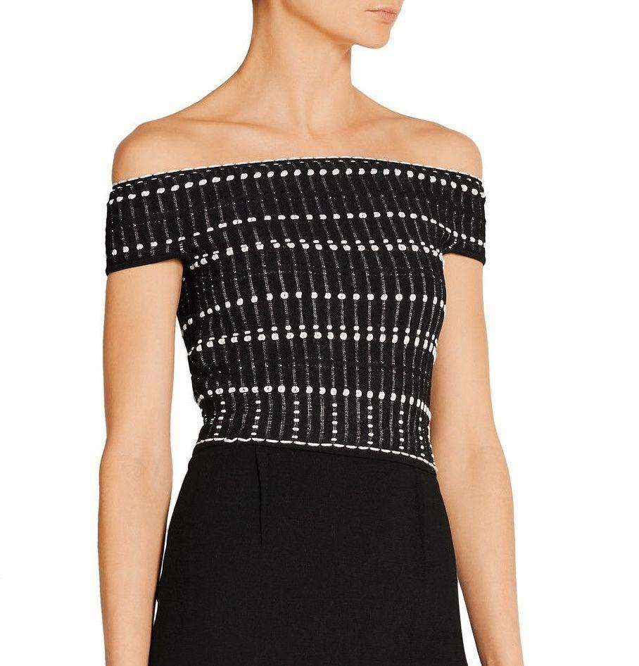 ALEXANDER MCQUEEN CROPPED OFF THE SHOULDER TOP SMALL