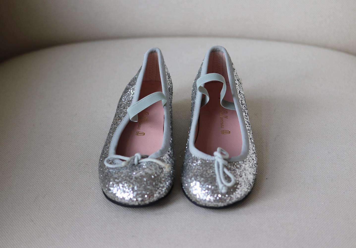 PRETTY BALLERINAS KIDS GIRLS GLITTER SHOES EU 30 UK 12