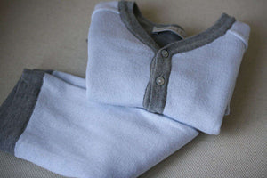 BABY DIOR BLUE CASHMERE BLEND CARDIGAN AND TROUSERS OUTFIT 6 MONTHS