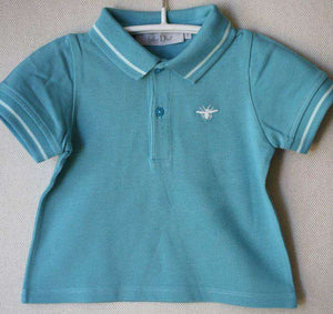 BABY DIOR TURQUOISE POLO SHIRT 6 MONTHS