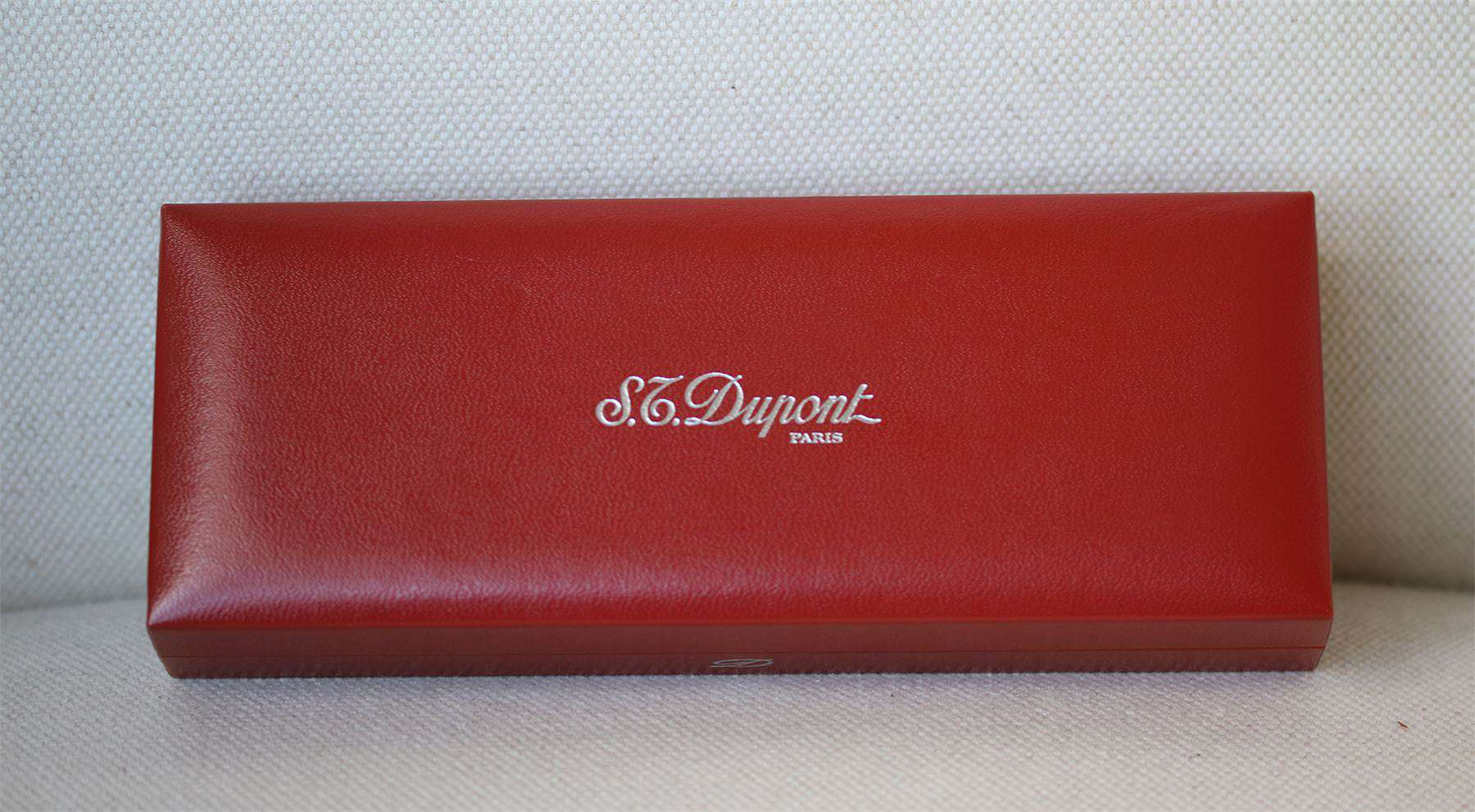 S.T. DUPONT TWIST BALLPOINT LACQUER AND SILVER PLATED PEN