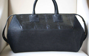 STARK AT HARRODS BLACK PYTHON TOTE BAG