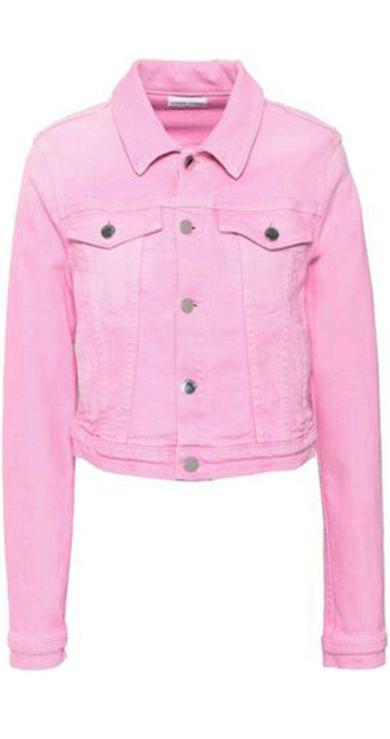 COTTON CITIZEN CROPPED DENIM JACKET SMALL