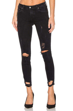 LOVERS + FRIENDS X REVOLVE RICKY DISTRESSED SKINNY JEANS W24 UK 6