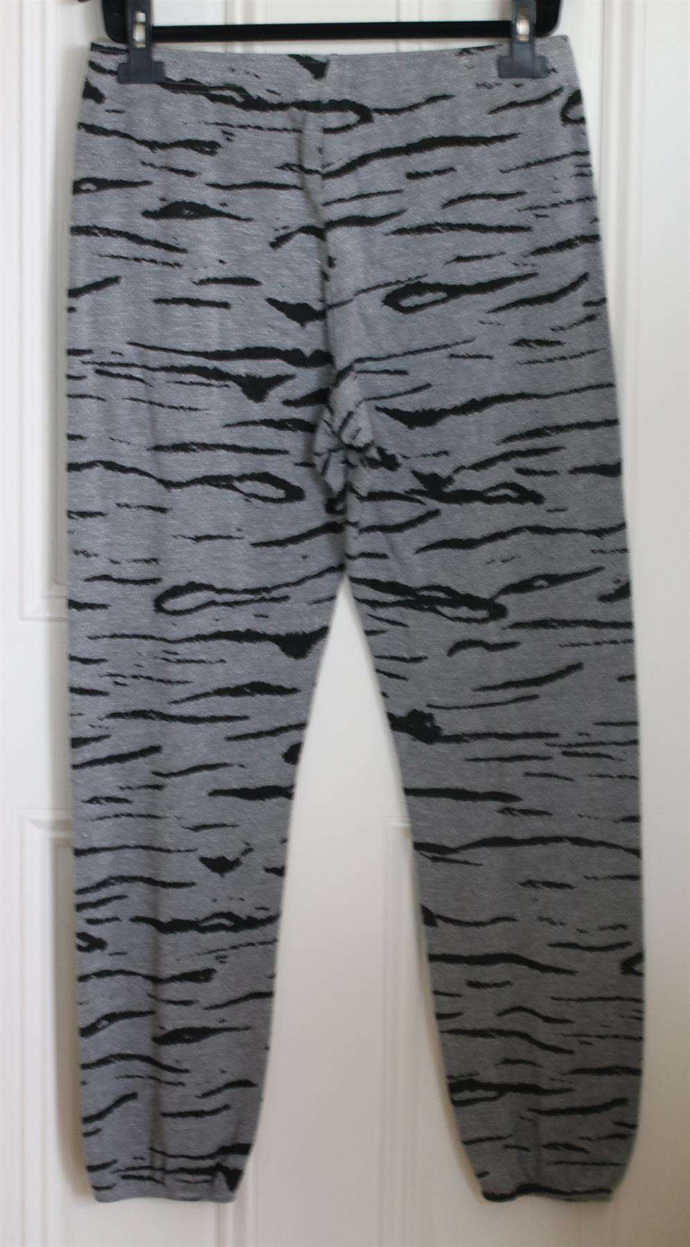 MONROW TIGER PRINT COTTON JERSEY SWEATPANTS MEDIUM