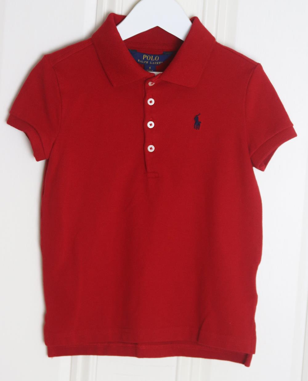 POLO RALPH LAUREN KIDS UNISEX COTTON POLO SHIRT 6 YEARS