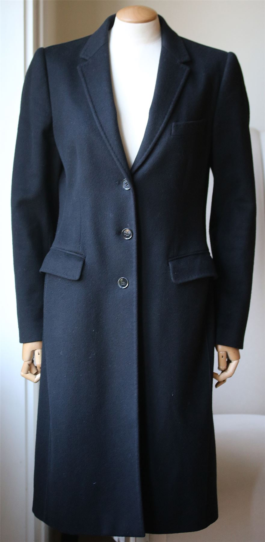 DOLCE AND GABBANA WOOL AND CASHMERE COAT IT 42 UK 10