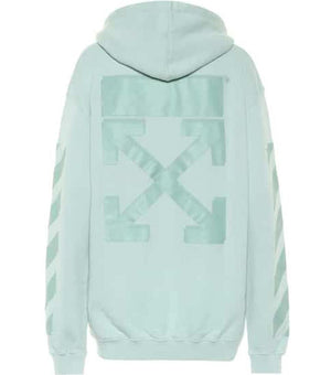 OFF-WHITE C/O VIRGIL ABLOH OVERSIZED PRINTED COTTON JERSEY HOODIE MEDIUM