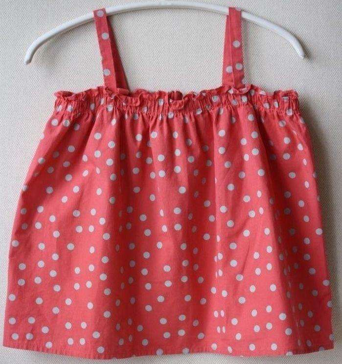 BONPOINT BABY CLEA GRENADINE POLKA DOT PINK BLOUSE TOP 3 YEARS