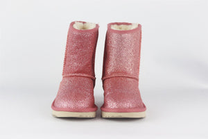 UGG AUSTRALIA KIDS GIRLS SHEARLING LINED GLITTER BOOTS EU 28.5 UK 10