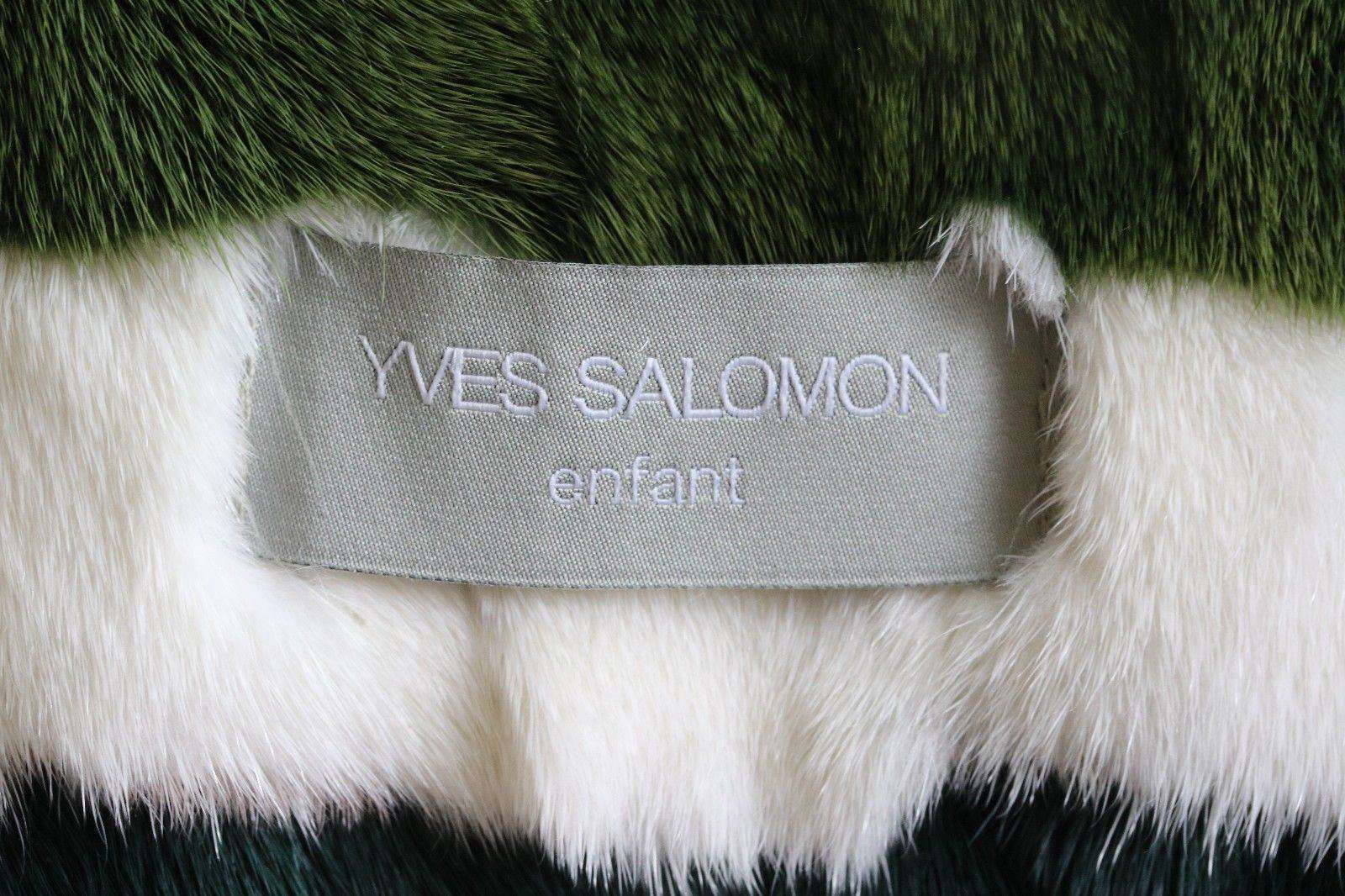 YVES SALOMON BABY GIRLS MINK LINED/ FOX TRIM COAT 4 YEARS