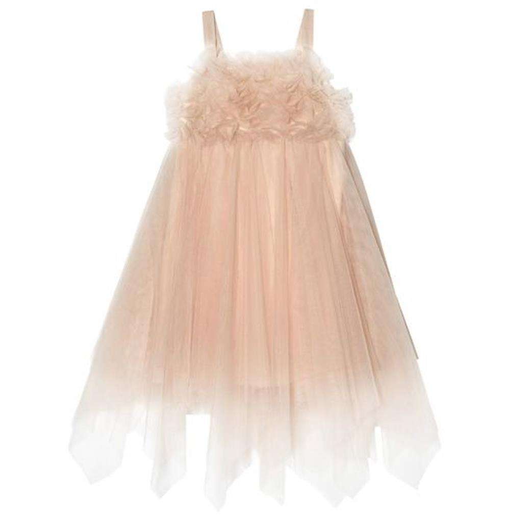 TUTU DU MONDE KIDS GIRLS VANILLA TULLE DRESS 8-9 YEARS