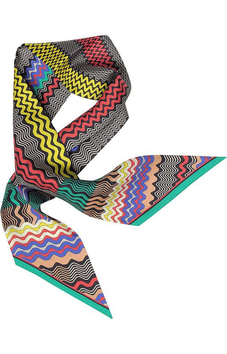 MISSONI PRINTED SILK SCARF
