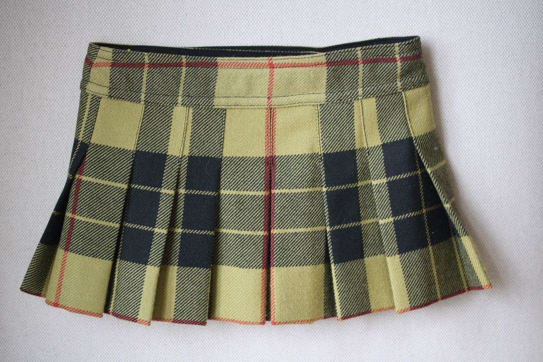 BONPOINT BABY GIRLS FOLK HONEY TARTAN SKIRT 3 YEARS