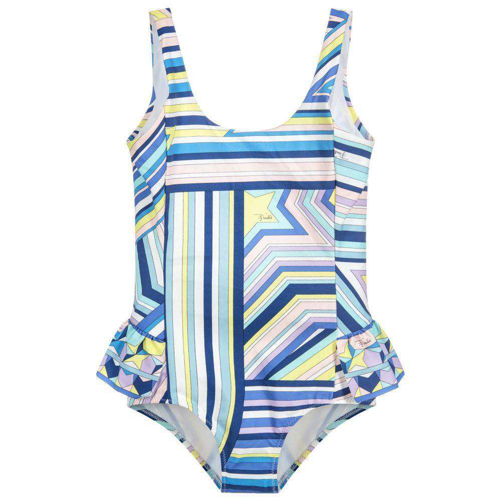 EMILIO PUCCI KIDS GIRLS PRINTED SWIMSUIT 6 YEARS