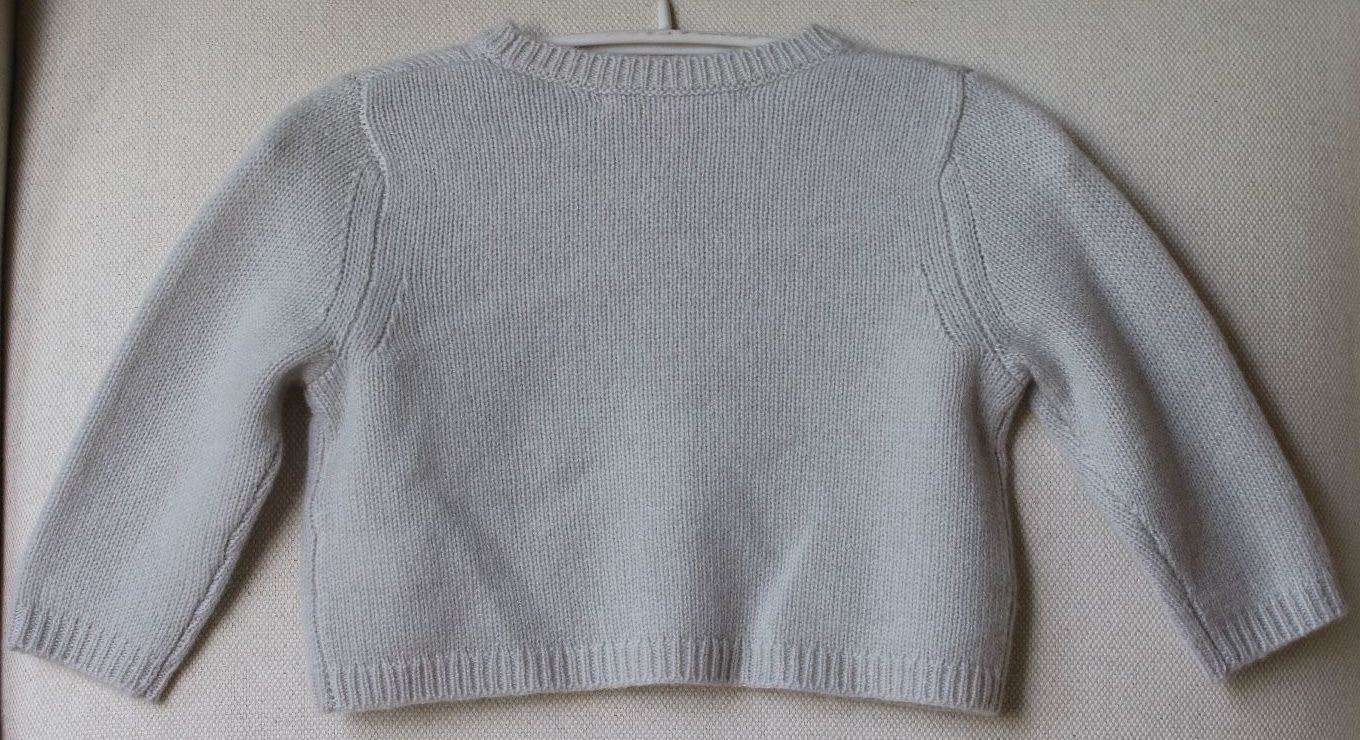 BONPOINT BABY GIRLS LIGHT GREY CASHMERE CARDIGAN 12 MONTHS
