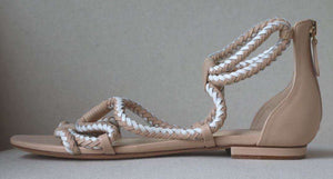 ALEXANDRE BIRMAN BRAIDED TWO TONE FLAT SANDALS EU 38 UK 5