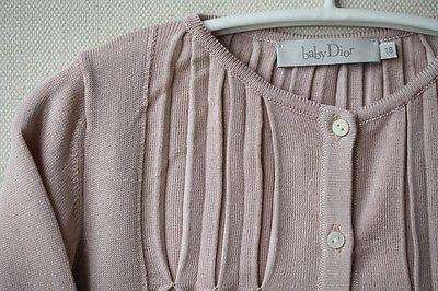 DIOR BABY PINK SILK AND COTTON BLEND DRESS AND CARDIGAN 18 MONTHS