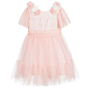PATACHOU KIDS GIRLS FLORAL TULLE DRESS 6 YEARS