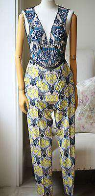 YIGAL AZROUEL ACANTHUS FLORAL JUMPSUIT US 6 UK 10